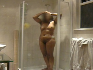 Homemade shower mms video