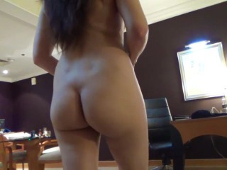 Indian wife walking nude